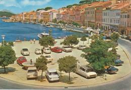 Citroen DS,Fiat, Opel, VW,  Old Car,Mali Losinj, Croatia, Vintage Old Postcard - Turismo