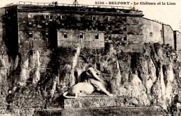 BELFORT  Le Lion Le Chateau   Carte En Bon état écrite - Belfort – Le Lion