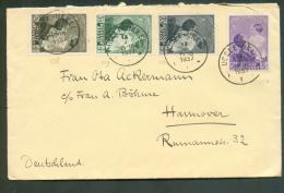 N°448/451 Astrid Et Enfant Obl. Sc UCCLE Sur Lettre Du 13-V-1937 Vers Hannovre (Allemagne) - 9312 - Belgium