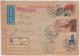 13390 Recommandé Par Avion De Riga à Tel Aviv 29/10/1950