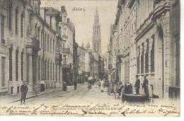 BELGIQUE - ANVERS - LA CATHEDRALE VUE DE LA LONGUE RUE NEUVE - CARTE PRECURSEUR - Belgique