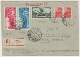 13393 Recommandé De Riga à Ixelles (Bruxelles) 23/07/1948 (?)