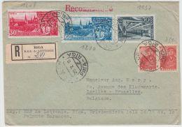 13395 Recommandé De Riga à Ixelles (Bruxelles) 20/07/1948