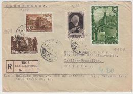 13396 Recommandé De Riga à Ixelles (Bruxelles) 23/01/1948