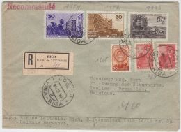 13397 Recommandé De Riga à Ixelles (Bruxelles) 04/08/1948