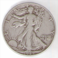 STATI UNITI HALF DOLLAR 1942 AG - 1916-1947: Liberty Walking (Libertà Che Cammina)