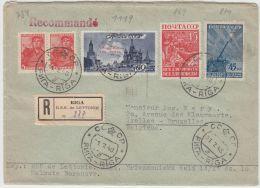 13400 Recommandé De Riga à Ixelles (Bruxelles) 31/07/1948