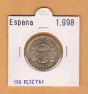 ESPAÑA /JUAN CARLOS I    100  PESETAS  Aluminio-Bronce 1.998  KM#989  MBC/VF  DL-9491 - [ 5] 1949-… : Kingdom