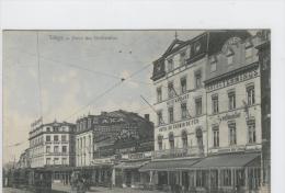 CP Liège  Place Des Guillemins Vers 1905 De Graeve  Très Rare Légèrement Colorisé. - Liege