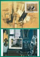 CM-Carte Maximum Card  # 2013-France # Art-Artwork #Peintures,Gemälde,painti Ngs By Georges Braque ,Varengeville  (2 MC) - Modern