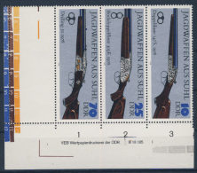 DDR Nr. 2377 , 2379 , 2381 ** postfrisch DV Druckvermerk S Zd 175 L