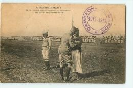 Campagne Du Maroc 1912 -1913 (Tampon) : Général Moinier, Décorations Blerssés Journées D'Avril. 2 Scans. A Travers Maroc - Andere Kriege