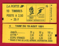 CARNET 2715-C 5a Lettre G - Conf. 6  ( RARE )  Cote: 600 € - Carnets