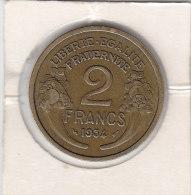 2 FRANCS Alu-bronze 1934 MORLON - I. 2 Francs