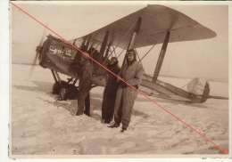 Belle Grande Photo Avion D´un Pilote Légendée Collot Sur Le Salm Du Capitaine Borot Riboulet Fougeras - Aviation
