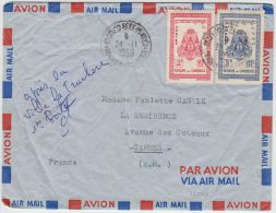 13542 Par Avion Du Cambodge à Cannes  24/11/1959 - Cambodge
