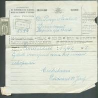Télégramme Adressé à (obl. Ferroviaire) CAPELLE-OP-DEN-BOSCH - CAPELLE-AU-BOIS Du 3-IV-1929 Déposé à Londerzeel. 9327 - Telegraph