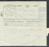 Télégramme Adressé à (obl. Ferroviaire) CAPELLE-OP-DEN-BOSCH - CAPELLE-AU-BOIS Du 3-IV-1929 Déposé à Londerzeel. 9328 - Télégraphes