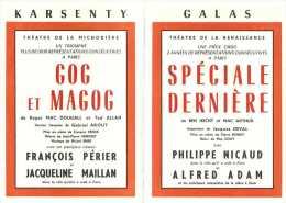 Le Programme Des Galas Karsenty - Saison 1963-1964 - La Robe Mauve De Françoise Sagan - La Venus De Milo - Etc .... - Programmes