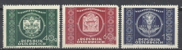 Österreich 1949 Mi 943 944 945 ** MNH Weltpostverein UPU ANK 955/957  Yv. 779/781 - 1945-.... 2. Republik