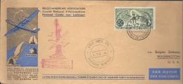 SABENA SPECIAL  MEMORIAL FLIGHT  TO WASHINGTON,USA 1946 - Airmail