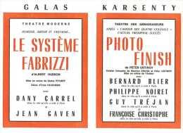 Le Programme Des Galas Karsenty - Saison 1964-1965 - Photo Finish Avec Bernard Blier - La Voyante - Etc ... - Programmes