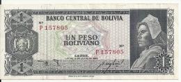 BOLIVIE 1 PESO BOLIVIANO L.1962 VF P 158 - Bolivia