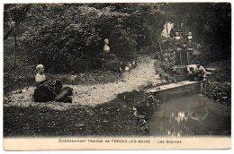CP, 91, FORGES-les-BAINS,  Etablissement Thermal, Les Sources, Voyagé En 1913 - France