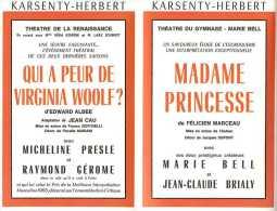 Le Programme Des Galas Karsenty - Herbert - Saison 1966 - 1967 - Faisons Un Rêve De Sacha Guitry - Mme Princesse - Etc.. - Programmes