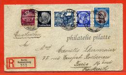 ALLEMAGNE LETTRE RECOMMANDEE DE 1934 DE BERLIN POUR PARIS - Briefe U. Dokumente