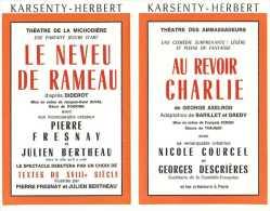 Le Programme Des Galas Karsenty - Herbert - Saison 1965 - 1966 - Spectacle Raymond Devos - Le Neveu De Rameau - Etc ... - Programmes