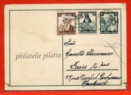 ALLEMAGNE ENTIER POSTAL DE 1935 DE BERLIN POUR PARIS - Deutschland