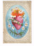 IMAGE RELIGIEUSE Colorisée En Dentelle, 10,9 X 7,2 Cm - Images Religieuses