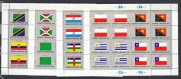 BANDERAS - ONU/NUEVA YORK 1984 - Yvert #416/31 Minipliegos - MNH ** - Stamps