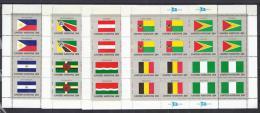 BANDERAS - ONU/NUEVA YORK 1982 - Yvert #365/80 Minipliegos - MNH ** - Sellos