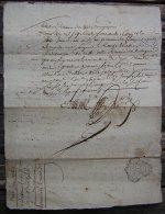 Agen 1765 Quittance, Généralité De Bordeaux (en Faveur De Jean Marliac, Brassier) - Algemene Zegels
