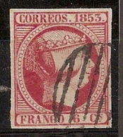 ESPAÑA 1853 - Edifil17 - Precio Cat. 2.85€ - 1850-68 Kingdom: Isabella II
