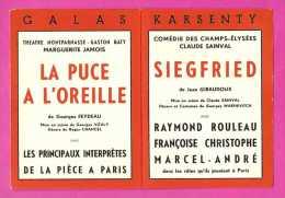 Le Programme Des Galas Karsenty - Madame Filoumé - Siegfried - Etc ... - Saison 1953 - 1954 - Programmes