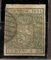 ESPAÑA 1854 - Edifil #26 - VFU - 1850-68 Reino: Isabel II