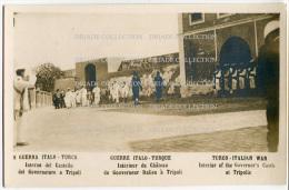 FOTO CARTOLINA GUERRA ITALO TURCA INTERNO DEL CASTELLO DEL GOVERNATORE A TRIPOLI GUERRA TRIPOLITANIA LIBIA - Andere Oorlogen