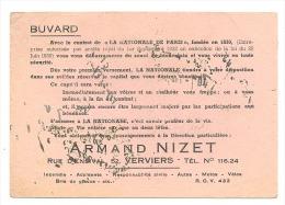 Buvard Publicitaire - VERVIERS - Assurances Armand Nizet (sf73) - Buvards, Protège-cahiers Illustrés