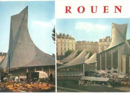 ROUEN ... LA PLACE DU VIEUX MARCHE ET L'EGLISE SAINTE JEANNE D ARC - Rouen