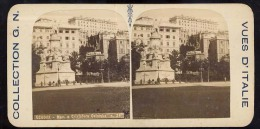 Old Stereoscopic Photo   Italia    Italy    GENOVA      Edition: Giuseppe Cadel  Zara  -  OTTICO - Stereoscopio