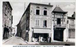 69 ST SYMPHORIEN SUR COISE Rue Centrale Et Hotel Loste - Saint-Symphorien-sur-Coise