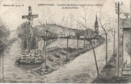 54 - GUERRE DE 1914 - 15 - CPA  - MONTAUVILLE -  Cimetière Des Soldats Français Tués Aux Combats Du Bois-le-Pêtre - Frankreich