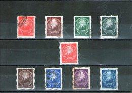 1948/49 - SERIE COURANTE EMBLEME DE LA REPUBLIQUE,  Yv 1042/1049 Avec Erreur - 1948-.... Republics