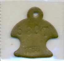 Malta 1948  - Hundemarke - Dog Tax Tag- Médaille De Chien - Hondenpenning - Tokens & Medals
