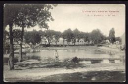 CPA ANCIENNE- FRANCE- ESPEZEL (11)- LE LAC EN GROS PLAN- ANIMATION - Other Municipalities
