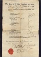 VON SEITE DER F. PILSNER HAUPTSCHULE WIRD HIEMIT BEZEUGET ....   School Certificates   1825. - Documenti Storici