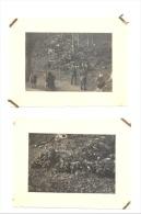 MARCHE- LES - DAMES - Lot De 2 Photos D'amateur (6 X 9 Cm) Après L'accident De Roi Albert Ier - 1934   (b128) - Plaatsen